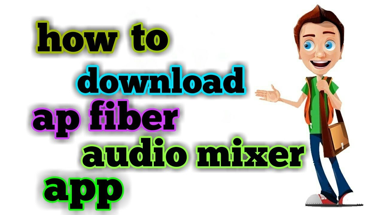 how to download ap fiber audio mixer in telugu