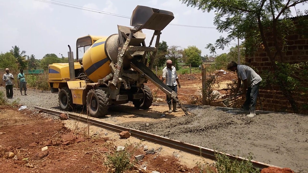 Cement Concrete CC road construction