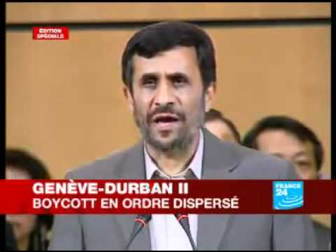Discours Mahmoud Ahmadinejad à l'ONU, le gouvernement israélien est raciste