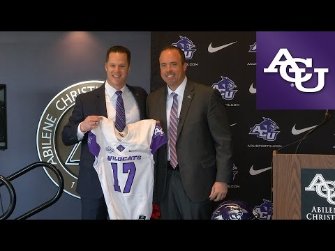 ACU Head Football Coach Adam Dorrel