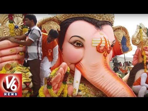 Balapur Ganesh Shobha Yatra Exclusive Visuals | Ganesh Nimajjanam 2018 | V6 News