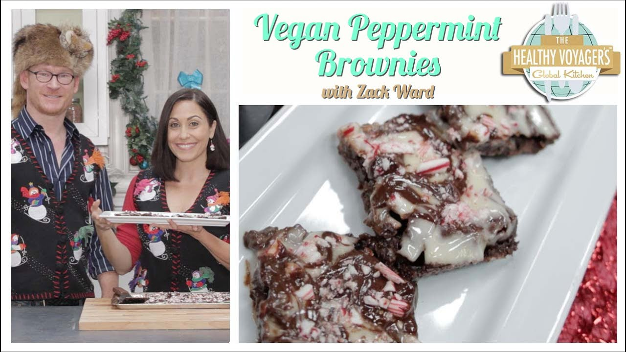 Vegan Peppermint Brownies Recipe with Zack Ward, A Christmas Story\'s ...