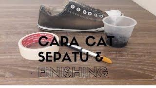 cat sepatu dengan finishing / repaint shoes