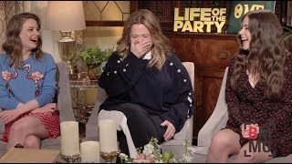 Melissa McCarthy, Gillian Jacobs, & Molly Gordon Interview - Life of the Party