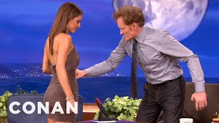 Repeat youtube video Maria Menounos Is Tight & Can Take A Punch - CONAN on TBS