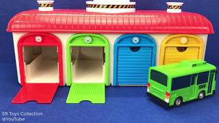 Tayo the Little Bus Parking Garage Playset Toy Learn Colors Mickey Mouse Power Rangers Surprise Eggs