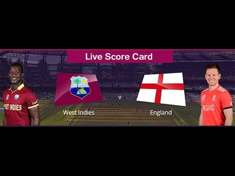 England vs West Indies T20 World Cup Final 2016 LIVE