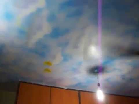 Hyderabad kids decor magical day and night sky galaxy on - Night sky painting on ceiling ...
