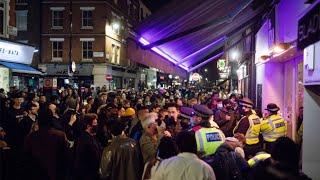 video: Revellers in Merseyside attack police ahead of national lockdown
