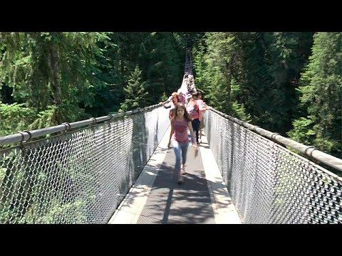 El puente colgante de Capilano, menudas vistas