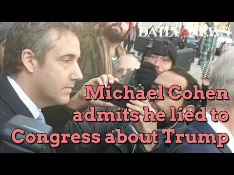 Michael Cohen, Trump's former attorney, admits to lying to Congress
