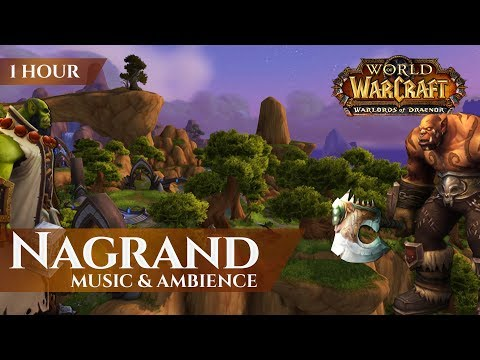 Nagrand WoD - Music & Ambience (1 hour, 4K, World of Warcraft Warlords of Draenor)