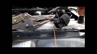подключение туманок в бампере на w124 от е500