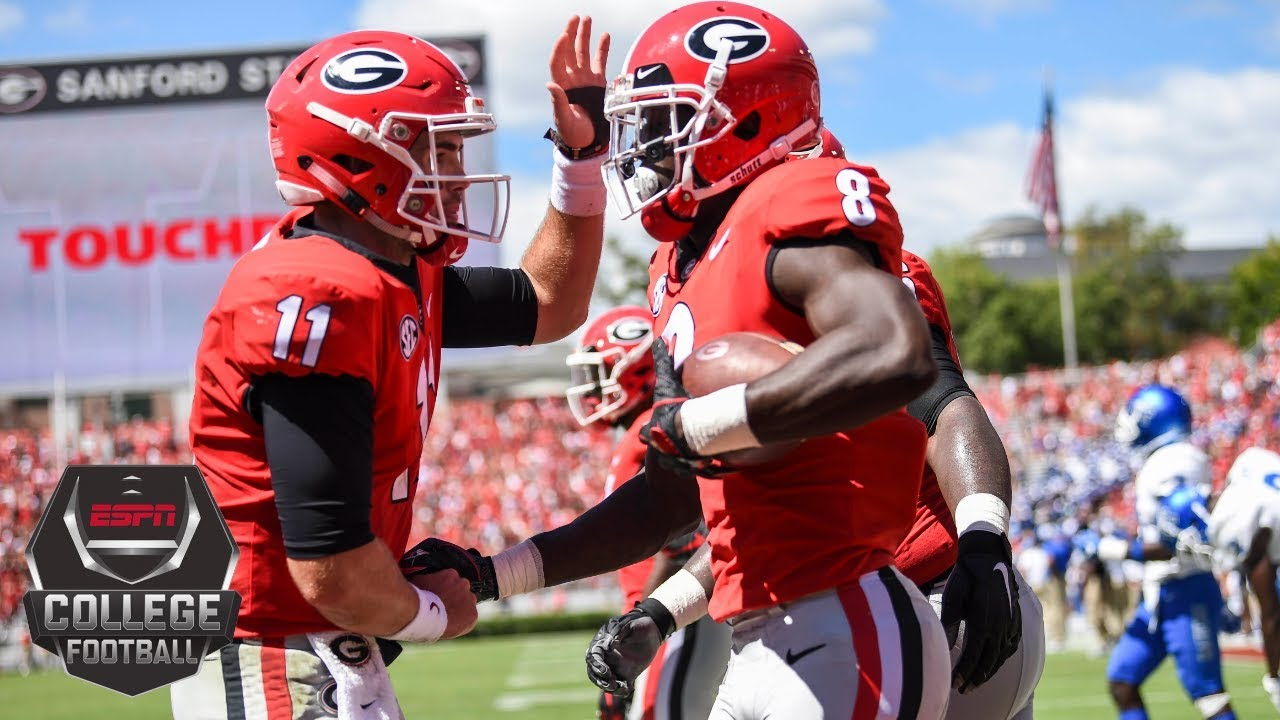 College Football Highlights Georgia Bulldogs Defeat Middle