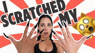 24 Hours Wearing REALLY LONG ACRYLIC NAILS (First Time) | Mar