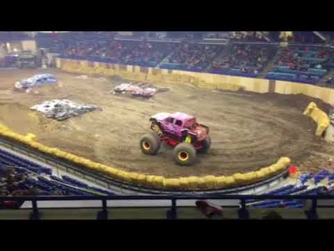 Rockstar Monster Truck Takes a Tumble!
