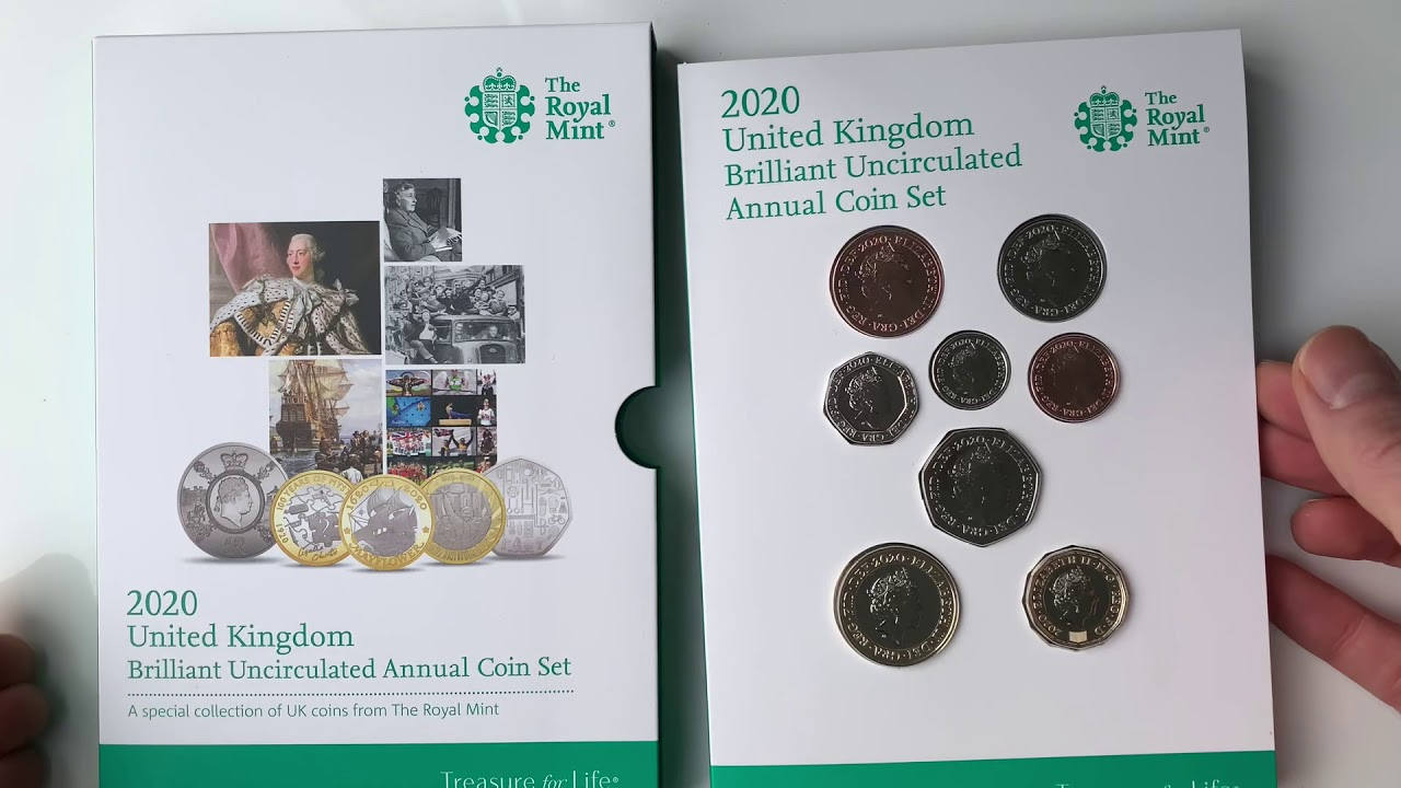 1987 United Kingdom Mint Set Brilliant Uncirculated Coin Collection Royal Mint