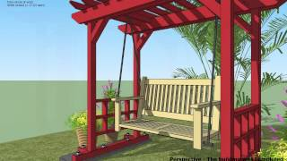 Sw100 - Arbor Swing Plans Construction - Garden Swing Plans - Arbor Swing Design