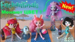 Новинка ЭНЧАНТИМАЛС МЕНЯЮТ ЦВЕТ Игрушки для Девочек Enchantimals Dolls Dolce Dolphin Largo
