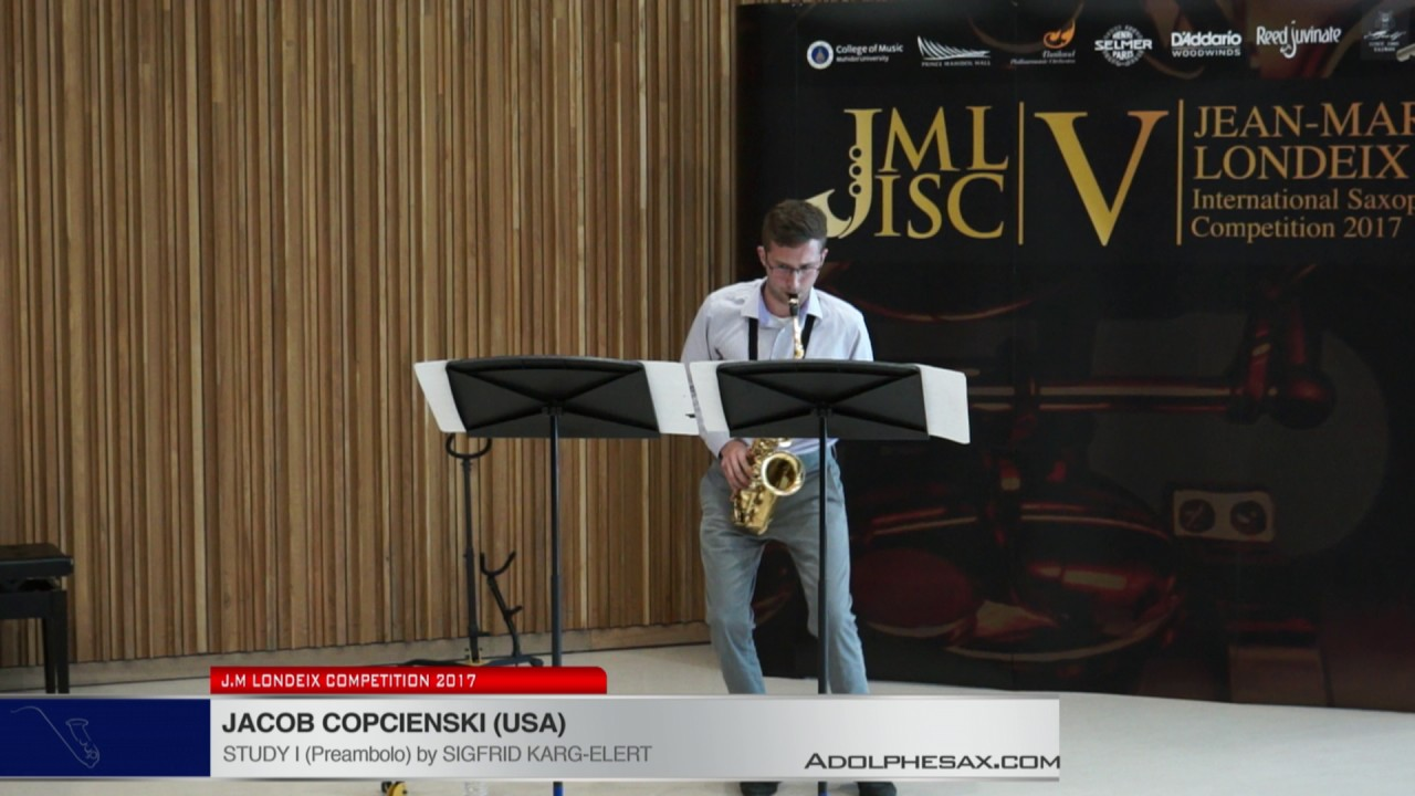 Londeix 2017 - Jacob Kopcienski (USA) - I Preambolo by Sigfrid Karg Elert