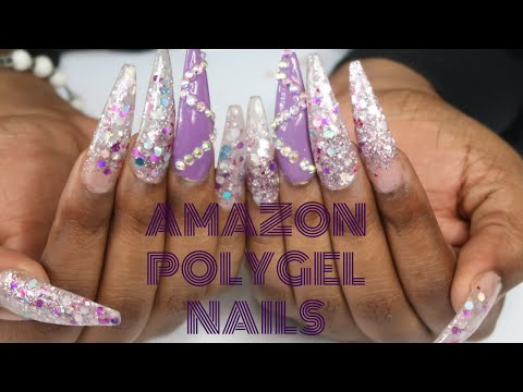 POLYGEL NAILS FOR BEGINNERS | ECBASKET | AMAZON NAILS