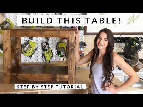 DIY How To Build A Console Table