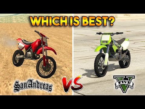 GTA 5 SANCHEZ VS GTA SAN ANDREAS SANCHEZ : WHICH IS BEST?