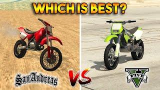GTA 5 SANCHEZ VS GTA SAN ANDREAS SANCHEZ : WHICH IS BEST?