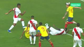 Perú vs. Colombia 0-1| así fue el polémico gol de Mateus Uribe