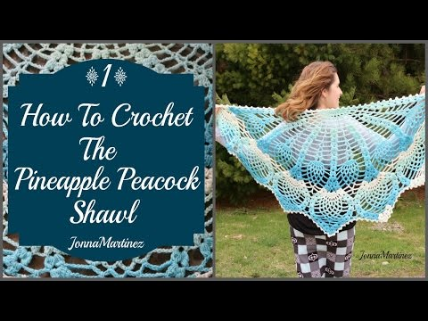 How to Crochet the Pineapple Peacock Shawl (PART 1)