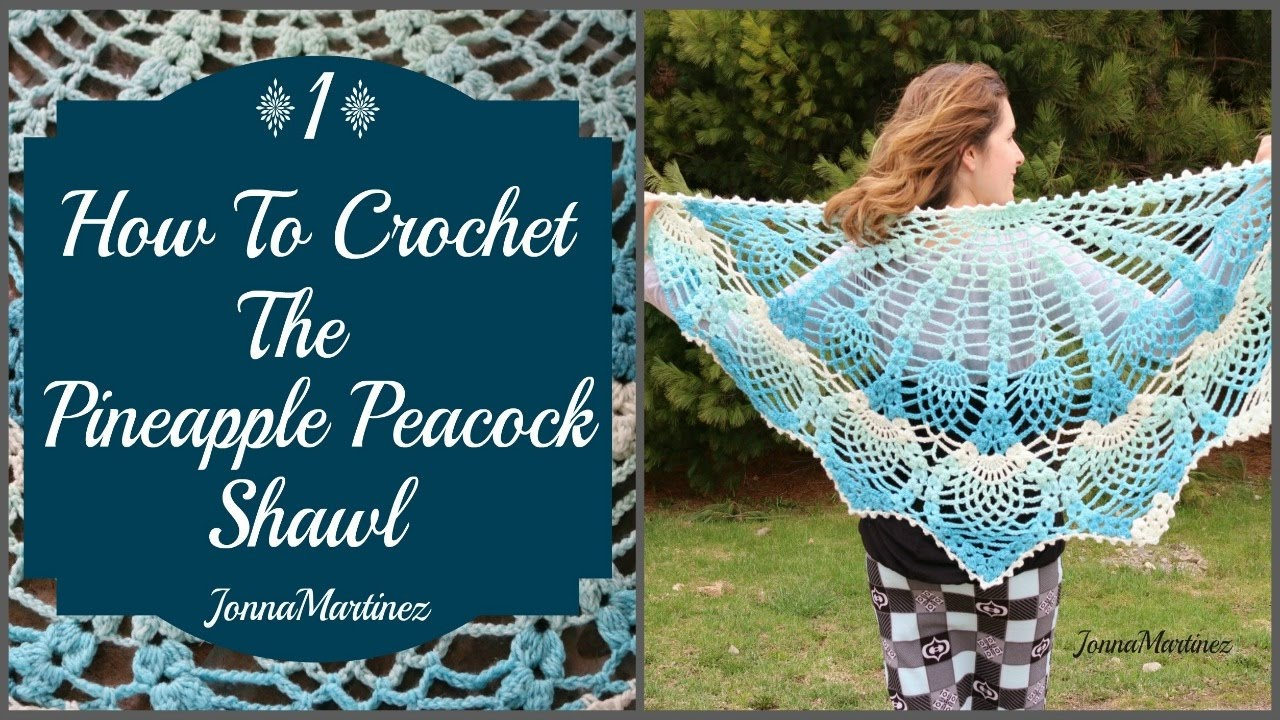 How To Crochet The Pineapple Peacock Shawl Part 1 Youtube
