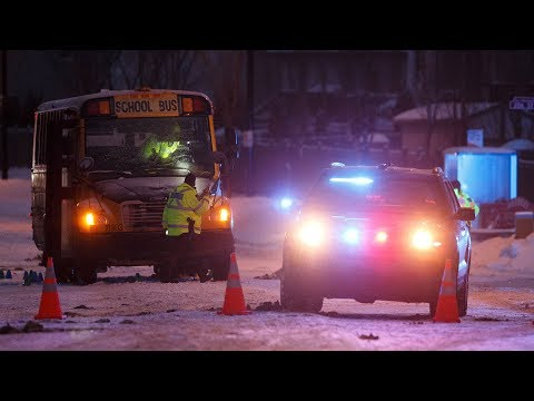 Two Grade 8 students in hospital after being hit by school bus