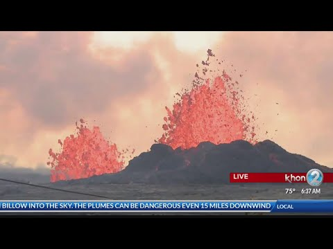 Lava eruptions and ground cracking continues in Leilani Estates area Wednesday