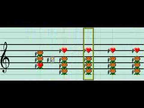 """They Might Be Giants """"Dr. Worm"""" in Mario Paint Composer"""