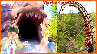 SCARY FUN RIDES at MARINELAND FAMILY FUN AMUSEMENT PARK for kids Outdoor Theme Park