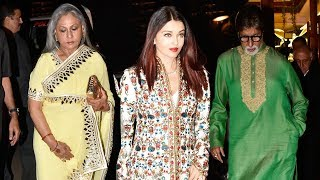Aishwarya Rai Bachchan With Amitabh Bachchan And Jaya Bachchan Together For First Time At A Wedding