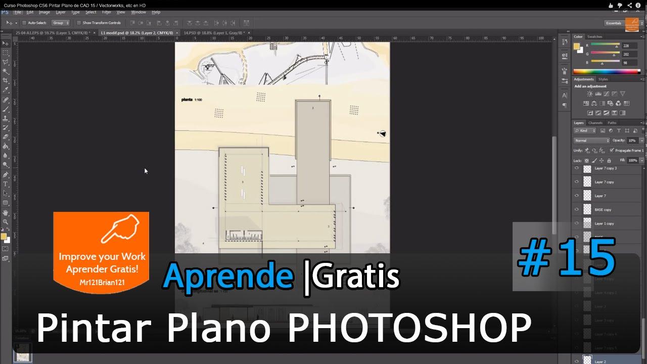 Curso photoshop cs6 pintar plano de cad 15 vectorworks for Software para hacer muebles