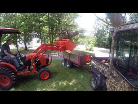 my kubota b2320 tractor + backhoe bh65 quick coupler by
