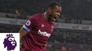 West Ham take the lead through Issa Diop's header against Fulham | Premier League | NBC Sports