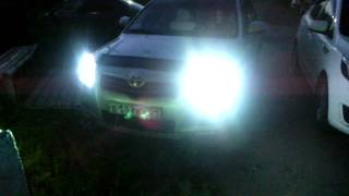 Би линзы на Toyota Avensis рестайлинг