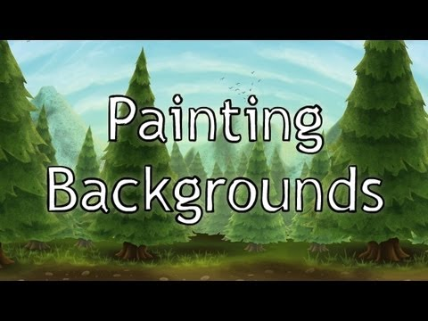 How To Paint Backgrounds In Photoshop Youtube