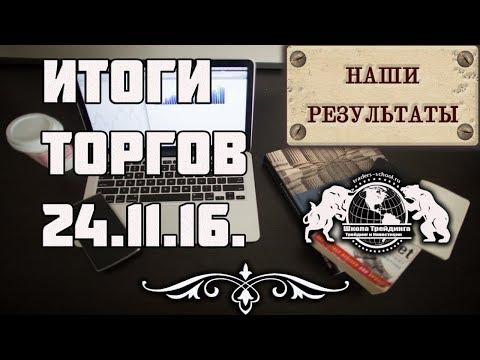 Бинарные Опционы - Итоги Торгов за 24.11.16г