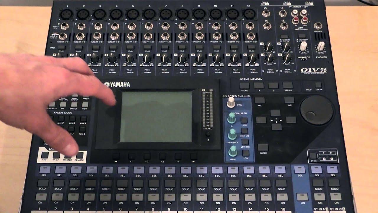 01v96 factory resetting the mixer youtube rh youtube com Cannot Use Reverbx Yamaha 01V96 manual da mesa digital yamaha 01v96