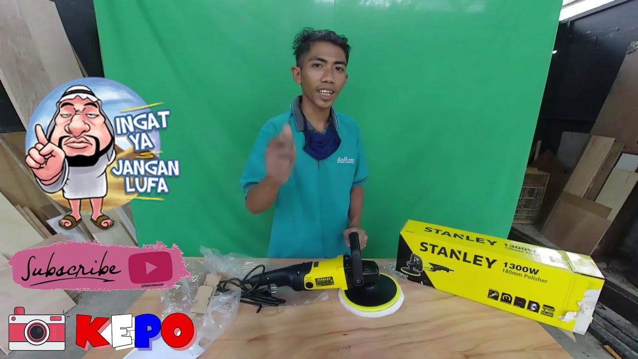 Unboxing dan Tutorial Mesin Poles Stanley 1300 Watt