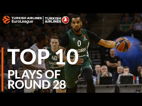 Top 10 Plays  - Turkish Airlines EuroLeague Regular Season Round 28