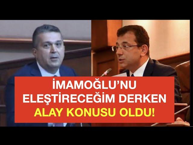 İMAMOĞLU, AKP'Lİ ÜYEYİ TEK CÜMLEYLE REZİL ETTİ