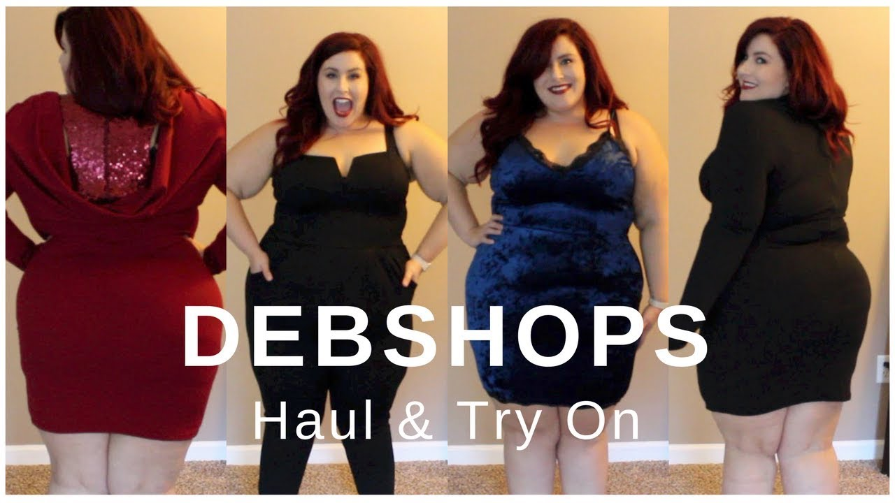 57d4ccb098f Plus Size Haul   Try On - DebShops Fall   Winter - YouTube