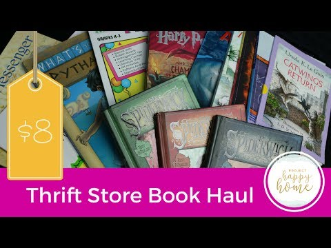 THRIFT STORE BOOK HAUL    Cheap books    July 2017