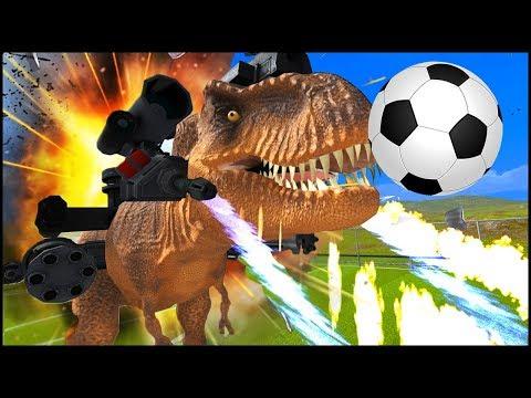 MECHA T-REX DINO-SOCCER BATTLE | Beast Battle Simulator Funny Moments