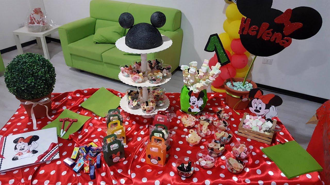 Favorito Minnie Party - tavolo scenografico 1 anno-IL MONDO DI ARIEL - YouTube WJ79